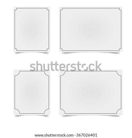 Vector decorative frames. Vector decorative simple frames - stock vector
