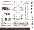 Vector decorative ornate design elements & calligraphic page decorations - stock photo