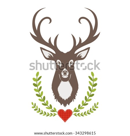 Vector Deer Design - stock vector