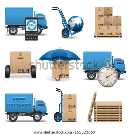 Vector Delivery Icons Set 4 - stock vector