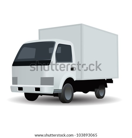 Vector delivery truck icon - stock vector