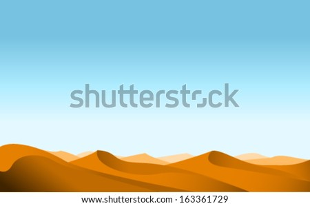 vector desert - stock vector
