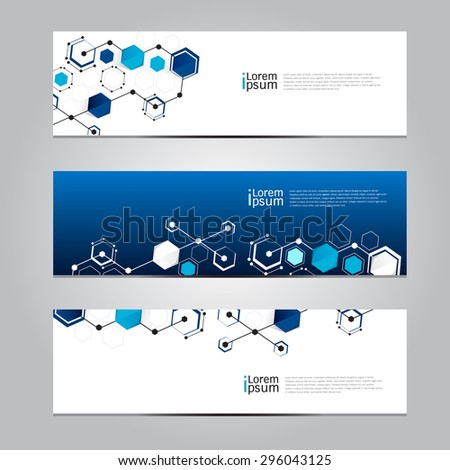 Vector design Banner network technology medical background. illustration EPS10 - stock vector