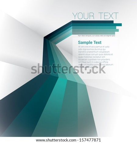 Vector design. Blue edition of a scalable eps10 abstract geometric background with  trendy retro stripes & the sense of 3d with menu and text field as a layout for a brochure or web, for universal use - stock vector