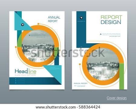 Vector Design Brochure Flyer, Business Annual Report. Flier, Leaflet,  Pamphlet Brochure.  Pamphlet Layout Template