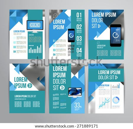 Vector design brochure template with statistic and infographic for business flyer or presentation. Trend design. - stock vector