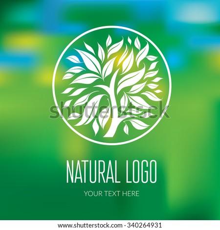 Vector design element for organic natural logo - stock vector