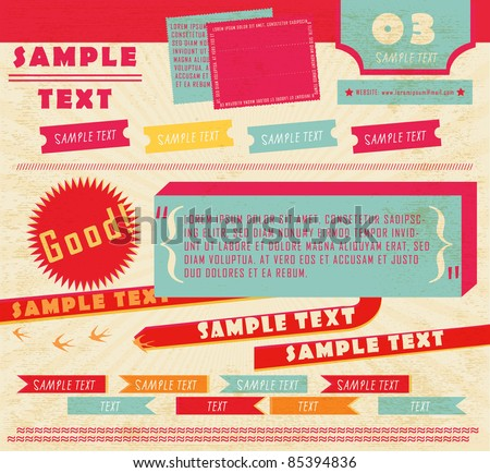 Vector Design Elements (10) - stock vector