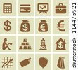 Vector design elements for finance and economy  - collection of icons - stock photo