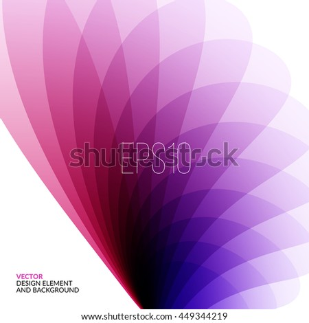 Vector Design Elements for graphic layout. Modern Abstract background template with pink soft flower shapes and wave gradient elements for business and beauty with beautiful overlap effect. - stock vector