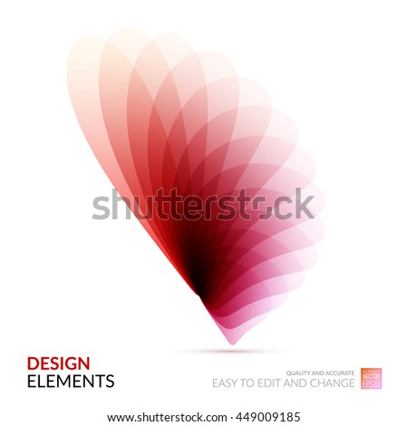 Vector Design Elements for graphic layout. Modern Abstract background template with soft flower shapes and wave gradient elements for business and beauty with beautiful overlap effect. - stock vector