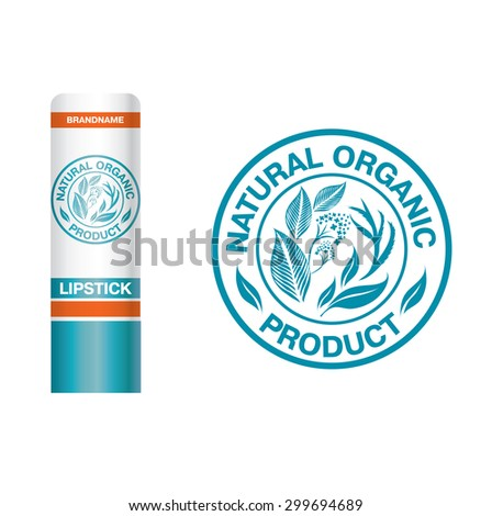 Vector design elements for organic natural logo - stock vector