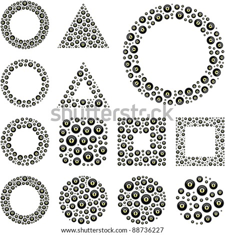 Vector design elements from arrow signs. Great collection. - stock vector