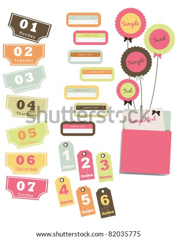 vector design elements set - stock vector