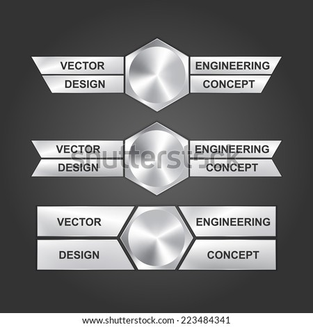 Vector design engineering concept.