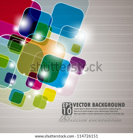 vector design- eps10 abstract multicolor squares - stock vector