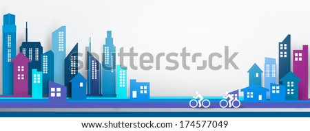Vector Design - eps10 Building and City Illustration, City scene, Abstract 3D Buildings  - stock vector