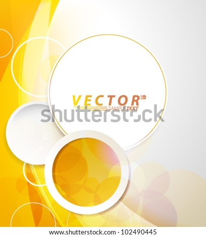Vector Design - eps10 Circle Shaped Bubble Concept Background - stock vector