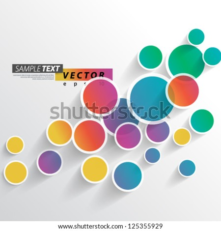 Vector Design - eps10 Colorful Circles Background - stock vector