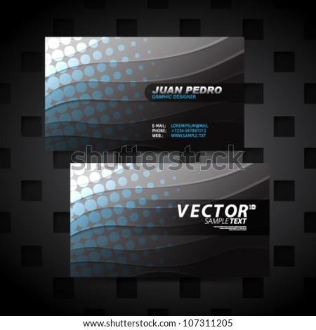 Vector Design - eps10 Modern Horizontal Business Cards - stock vector