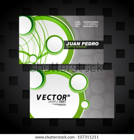 Vector Design - eps10 Modern Horizontal Business Cards - stock vector