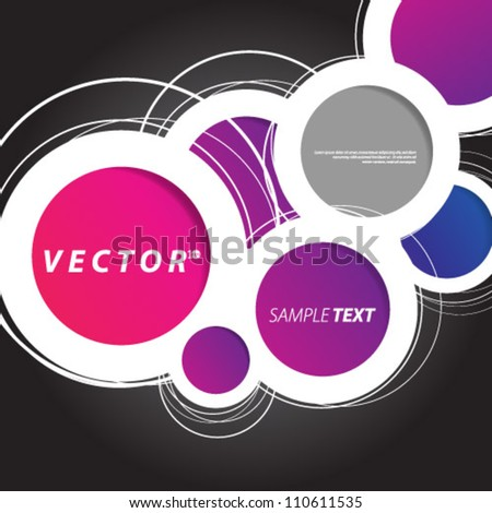 Vector Design - eps10 Overlapping Circles Concept Background - stock vector