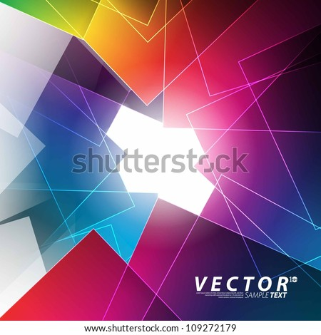 Vector Design - eps10 Overlapping Elements Concept Background - stock vector