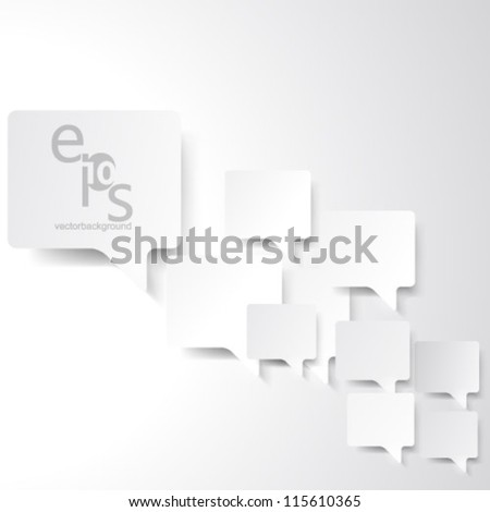 Vector Design - eps10 Overlapping Elements Concept Illustration