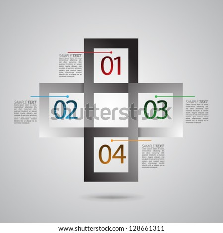 Vector Design - eps10 Overlapping Modern Design Squares Background