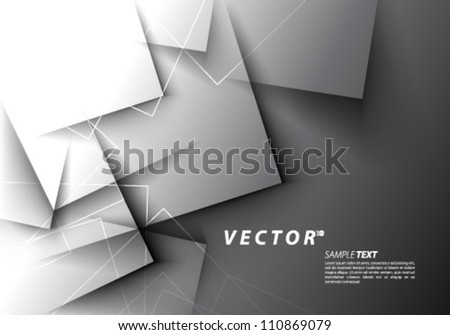 Vector Design - eps10 Overlapping Squares Concept Background - stock vector