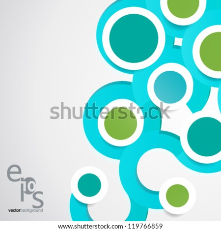 Vector Design - eps10 Simple and Colorful Circles Background - stock vector