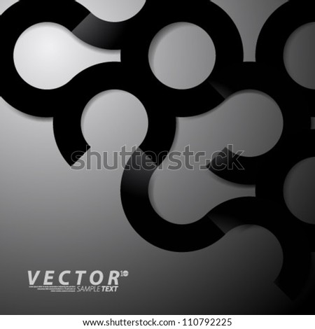 Vector Design - eps10 Simple Circles Background - stock vector