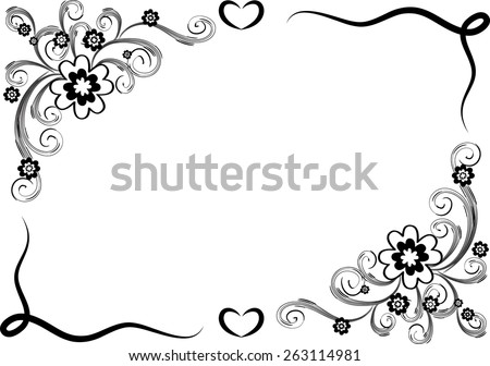 Cool black and white border designs lets bee friends clip art vector design flowers border black white stock vector 263114981 cool black and white border designs vector design flowers with border in black and white mightylinksfo Image collections