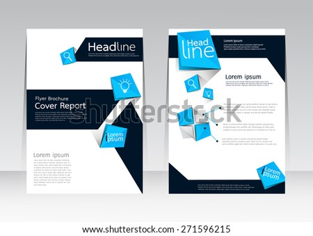 Vector design for Cover  Report Annual Brochure Flyer Magazine Poster in A4 size - stock vector