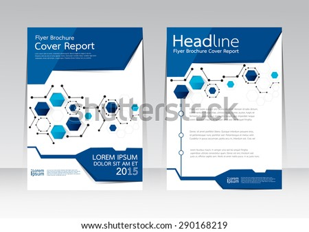 Vector design for Cover Report Annual Brochure Flyer Poster in A4 size - stock vector