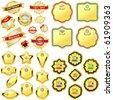 Vector design frames. Gold collection. - stock vector