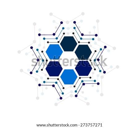 Vector design hexagon Network technology medical  background.illustration EPS10 - stock vector