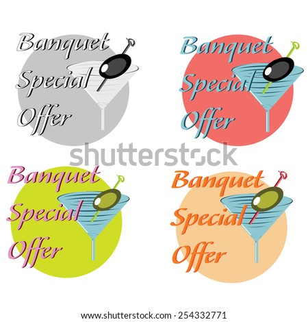 vector design icon and concept for restaurant food service with special offer - stock vector