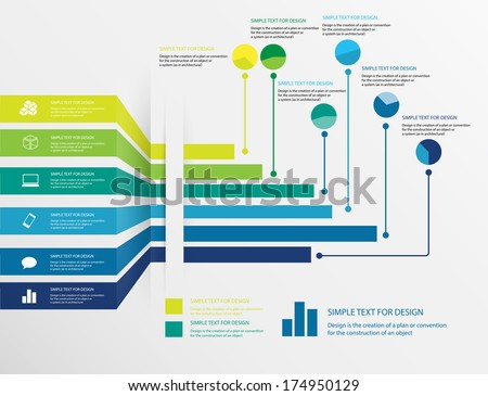 Vector design of infographic business chart, Abstract chart Infographic  - stock vector
