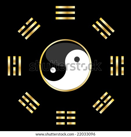 vector design of natural balance - stock vector