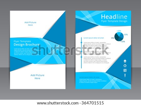 Vector design of the blue flyer, cover, brochure, poster, report. Vector template for your business in A4 size. - stock vector