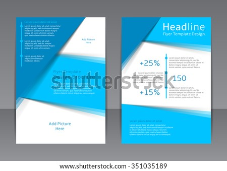 Vector Design Blue Flyer Cover Brochure Stock Vector 364701464