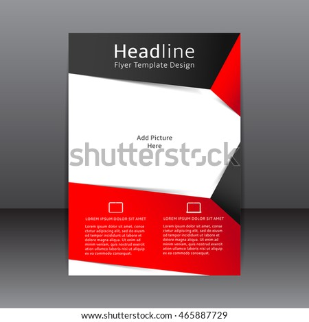 Vector Design Black Red Flyer Place Vector 348955013 – Red Flyer Template