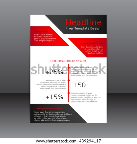 vector design red black white flyer 439294117 shutterstock. Black Bedroom Furniture Sets. Home Design Ideas