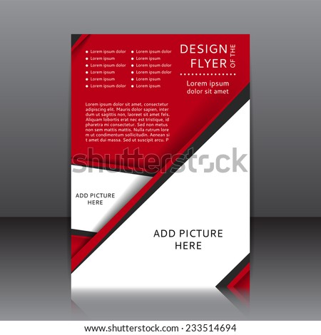 Vector Design Red Flyer Whit Place Vector 233514694 – Red Flyer Template