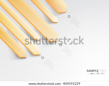 Vector design. Orange and White Edition of an Abstract Geometric Colorful Infographics Page Element for Web, Print or Brochure Layout  - stock vector