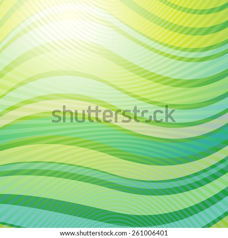 Vector design pattern. Green yellow wave abstract light background - stock vector