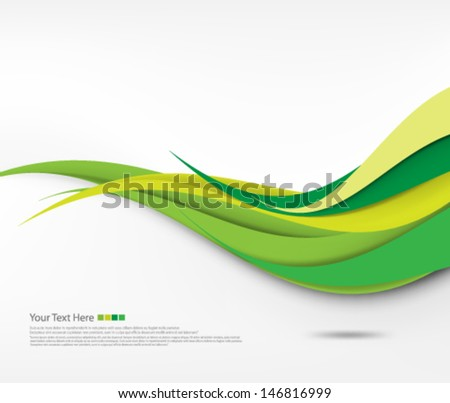 Vector Design Smooth Curve Lines - stock vector