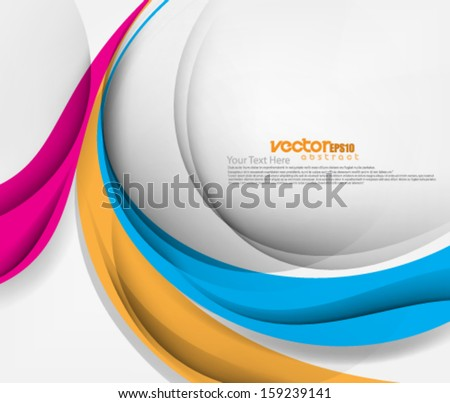 Vector Design Smooth Wave Curve Lines - stock vector