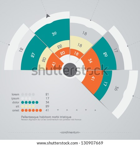 vector design template - infographic - stock vector